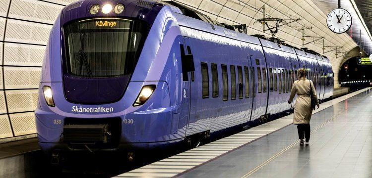 Tågstopp mellan Malmö och Lund
