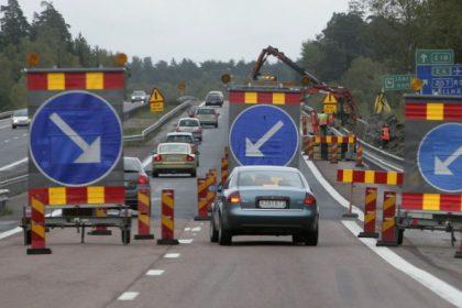 Vägarbete vid Kronetorpsvägen i Burlöv